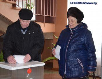 Жители Чериковского района проявляют активность на выборах в местные Советы депутатов