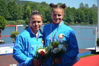 Елена Ноздрева и Камилла Бобр завоевали серебро на чемпионате Европы по гребле на байдарках и каноэ