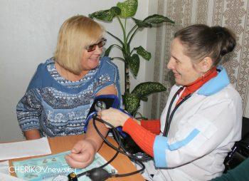 Профилактическое мероприятие «Будьте здоровы, дорогие» состоялось в Чериковском отделении дневного пребывания для граждан пожилого возраста