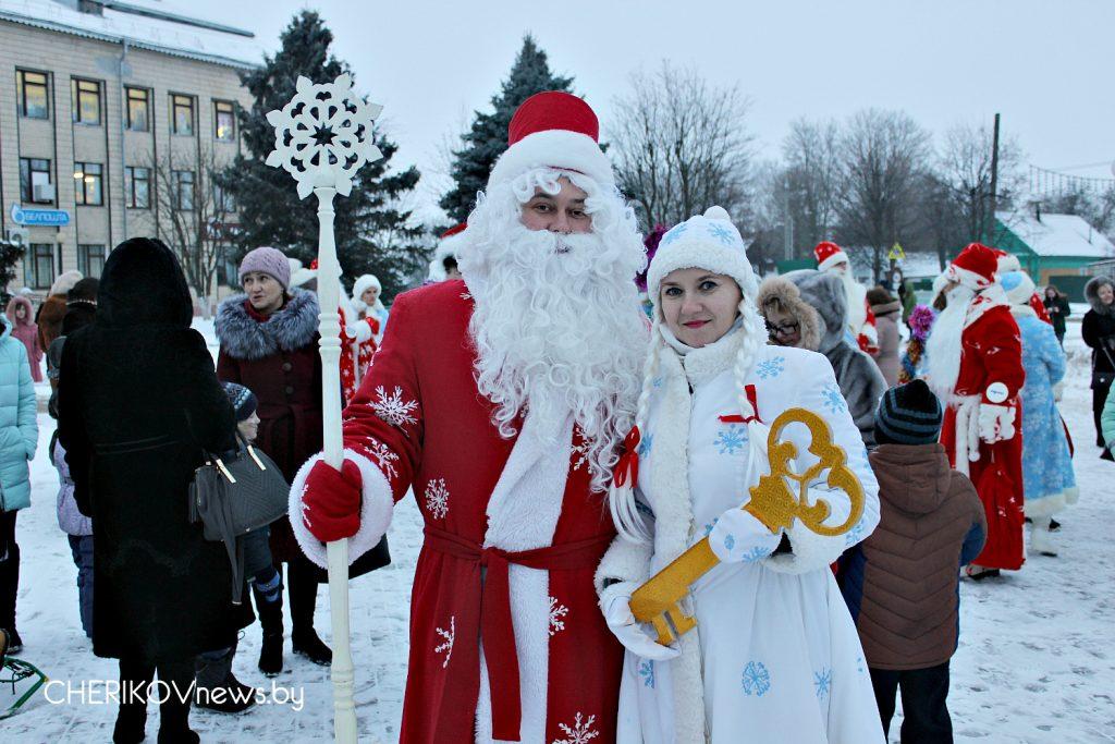 В Черикове состоялось торжественное открытие новогодней елки