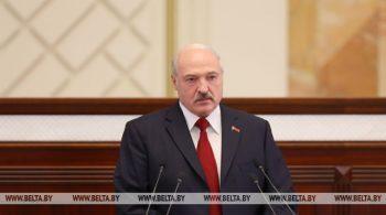 Президент Беларуси Александр Лукашенко обращается  с ежегодным Посланием к белорусскому народу и Национальному собранию
