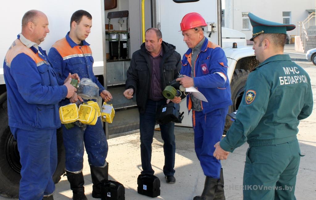 Масштабные учения по гражданской обороне 23-24 октября проходили в Чериковском районе