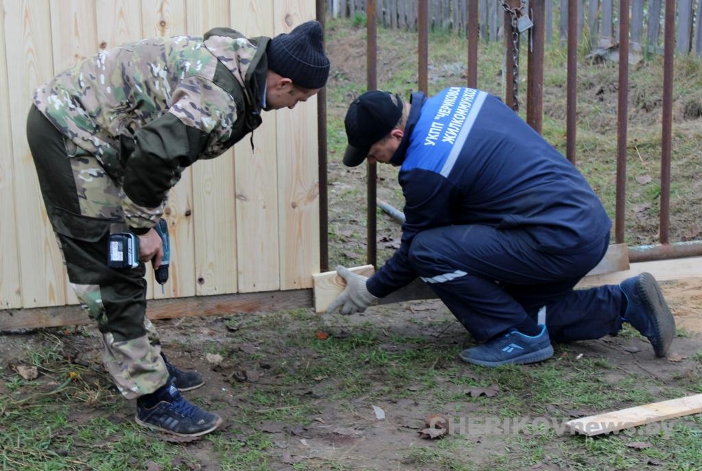 Жители Чериковского района приняли участие в областном субботнике