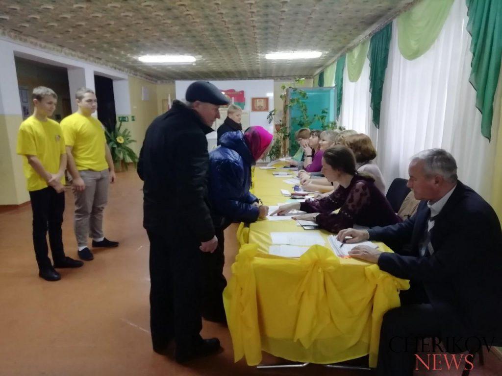 Чериковляне принимают участие в парламентских выборах