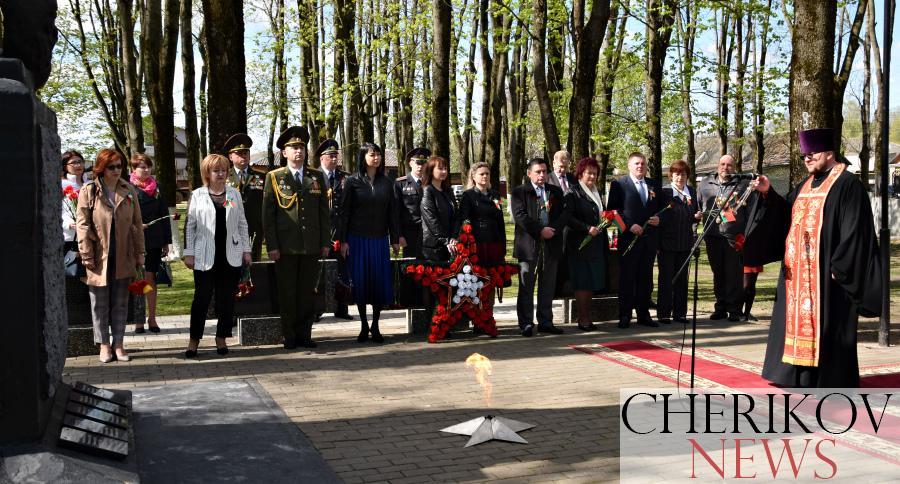 Митинг в память погибших в годы Великой Отечественной войны прошел в Черикове в День Победы