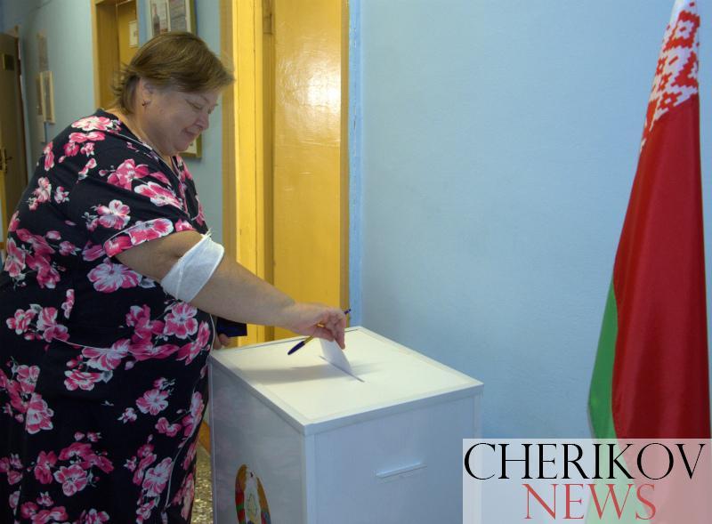 В Чериковской ЦРБ голосуют граждане, находящиеся на стационарном лечении